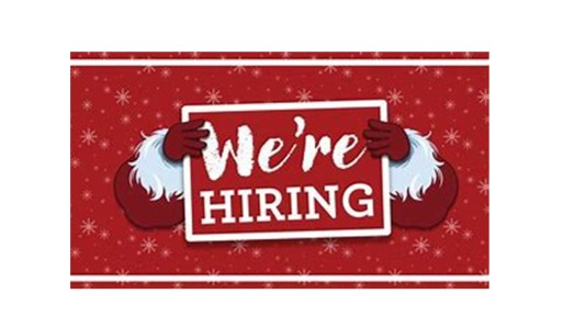 christmas hiring sign